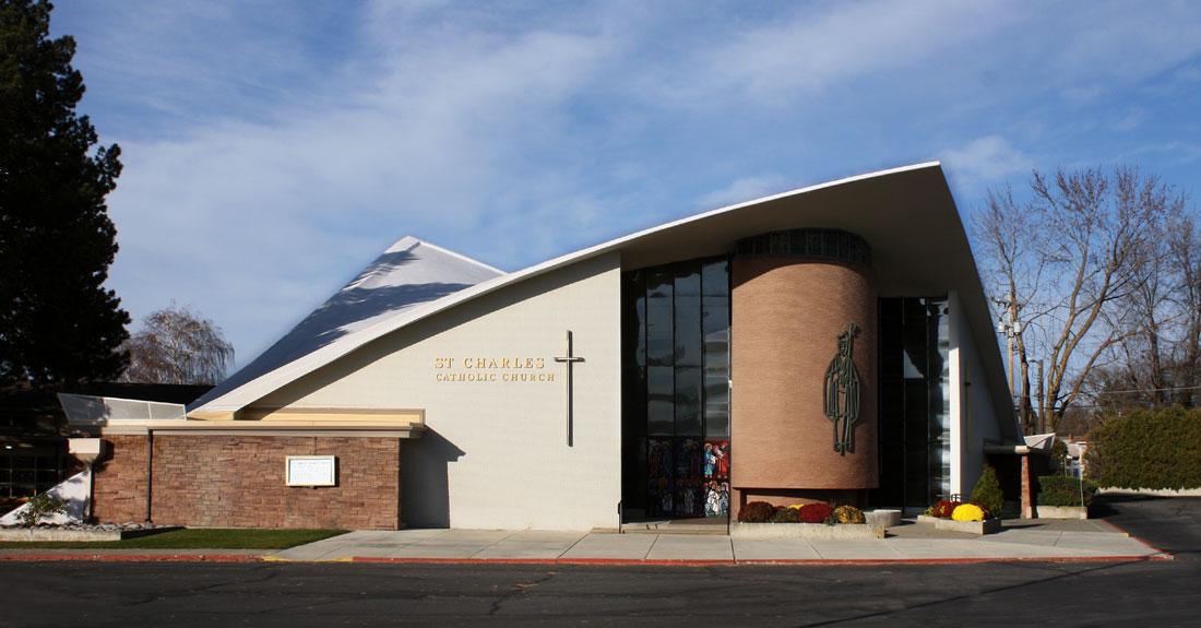 St Charles Borromeo Catholic Church Mid Century Spokane